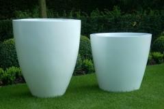 foto's polyester potten (rond WIT conisch + GRASGROEN vierkant) 001 (groot)