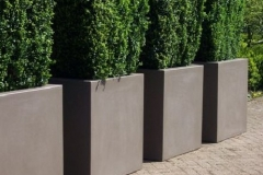 Polyester plantenbakken (4 grijs-beige) (groot)