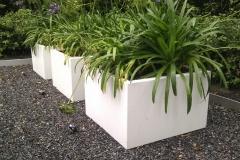 aluminium plantenbakken in het wit (in elke ral-kleur en op maat) (gr)