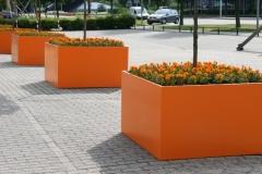 aluminium plantenbakken in oranje kleur (in elke ral-kleur en op maat) (gr)