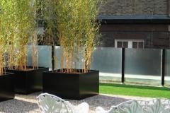 aluminium, zwart met bamboe (groot)