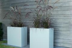 foto's aluminium potten rechthoekige (groot)