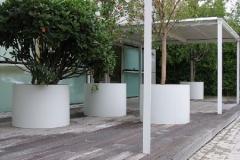 ronde aluminium plantenbakken