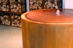 ronde cortenstaal Watertafel (2)